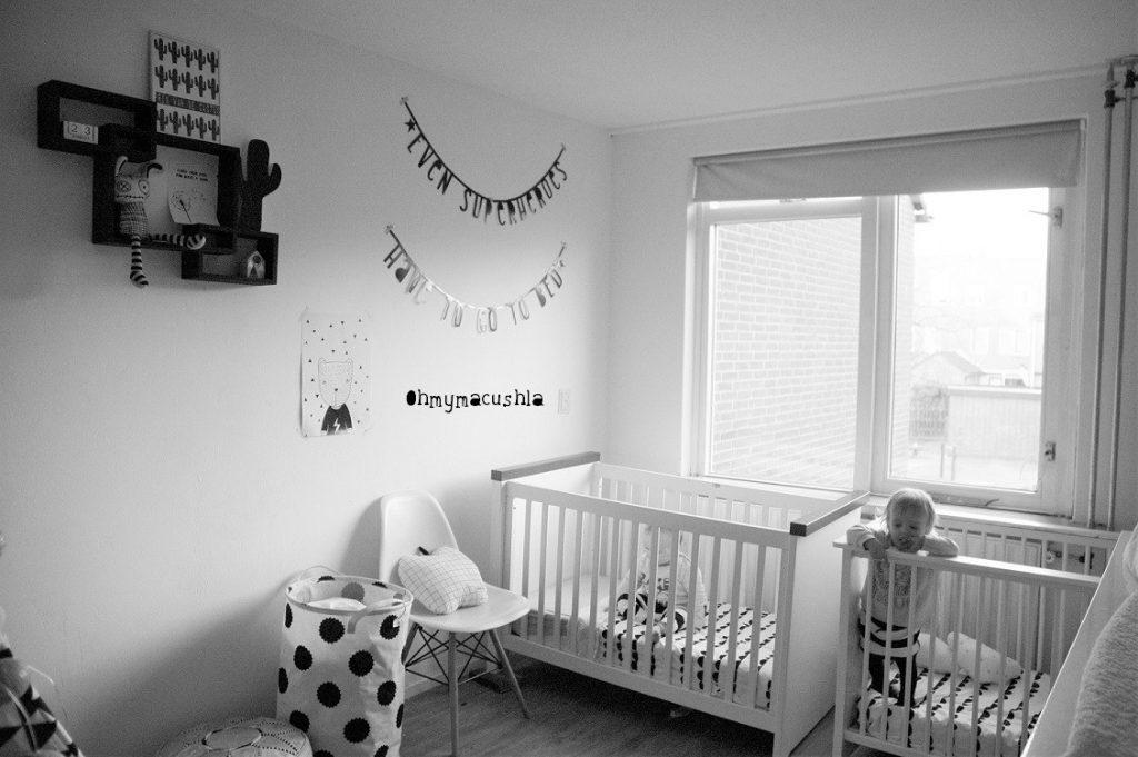 Hedendaags Monochrome tweeling kamertje - look inside - Coolest Kid On The Blog KF-33