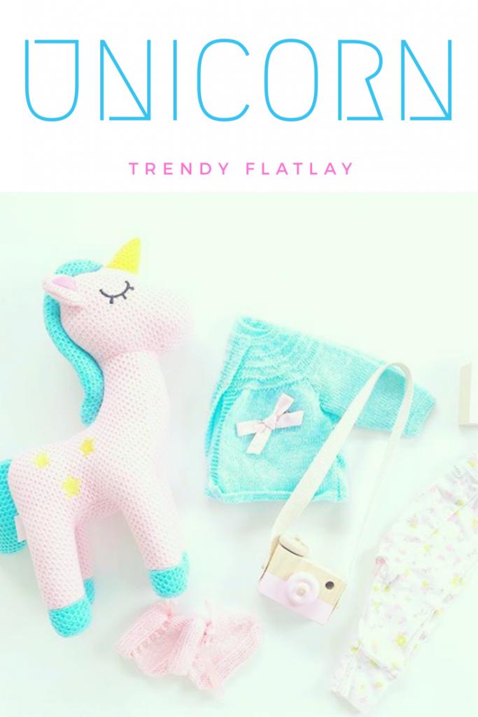 unicorn flatlay
