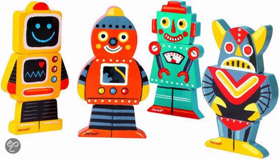 janod funny robots magneten