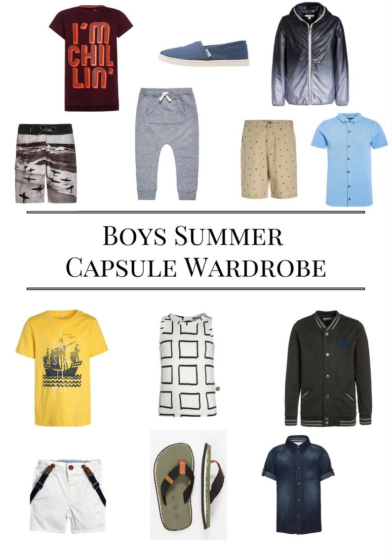 Boy's Summer Capsule Wardrobe voor hippe jongens