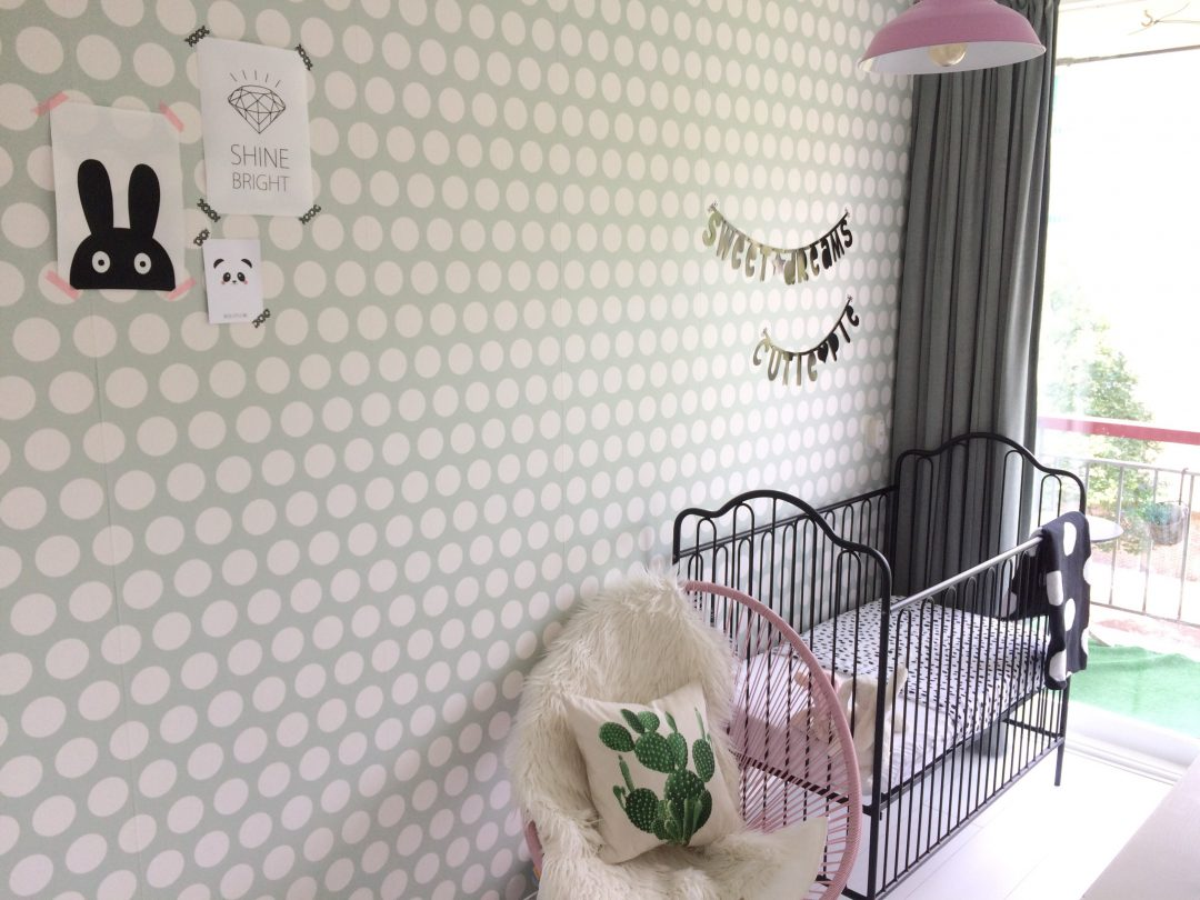 Frisse meisjes kamer van lexis instaroom coolest kid for Goedkoop laten behangen