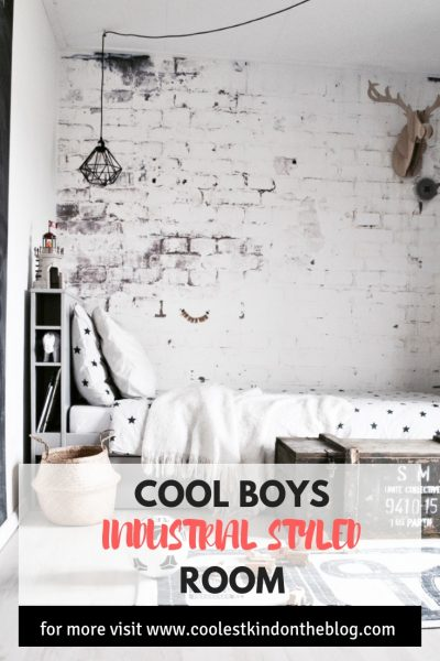 cool boys room industrial styled
