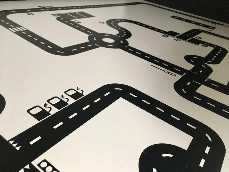 DIY – monochrome speelplek met Sticky Roads van StudioJong