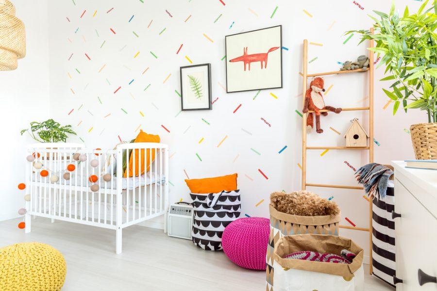 ladder hout babykamer