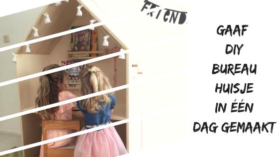 Gaaf DIY bureau huisje om zelf te maken in één dag