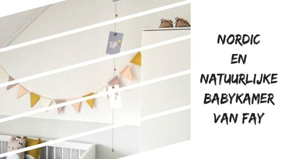Nordic en natuurlijke babykamer van Fay #InstaRoom