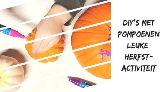 DIY's met pompoenen, leuke herfstactiviteit