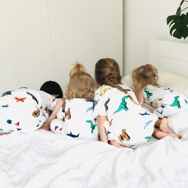 Twinnen?! Quadriplen met deze toffe origami dieren pyjama's van Snurk
