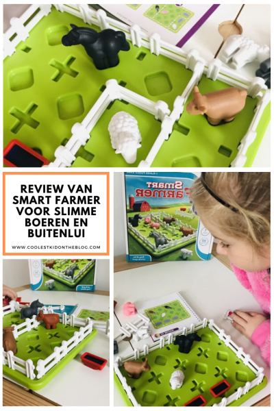 Smart Farmer, het spel voor slimme boeren en buitenlui. Goede speeltip voor (hoogbegaafde of) slimme kinderen die van een uitdaging houden. Onze volledige review van deze Smart Game vind je hier