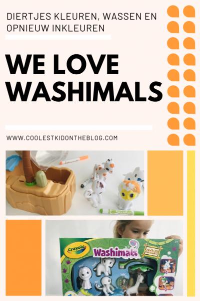 Washimals zijn niet alleen super cute om mee te spelen, maar het inkleuren is ook een feest. Je kunt de beestjes inkleuren, wassen en weer opnieuw inkleuren. Gegarandeerd uren speel plezier met de Washimals van Crayola dus. Bekijk onze review via de blog