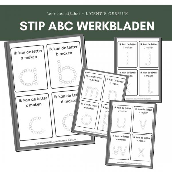 stip abc werkbladen licentie
