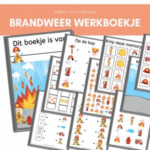 brandweer werkboekje kleuters