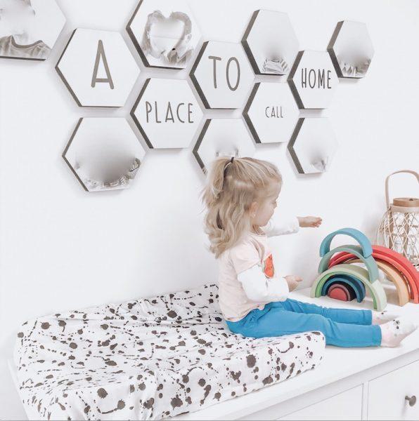 wanapix.nl hexagon wanddecoratie
