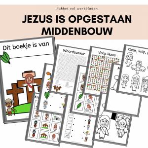 werkboekje middenbouw jezus is opgestaan