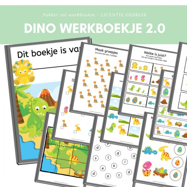 dinosaurus werkboekje kleuters