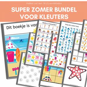 super zomer bundle printables kleuters