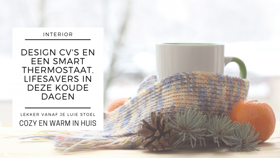 Design CV's en smart thermostaten, zo kom je de winter wel cozy door