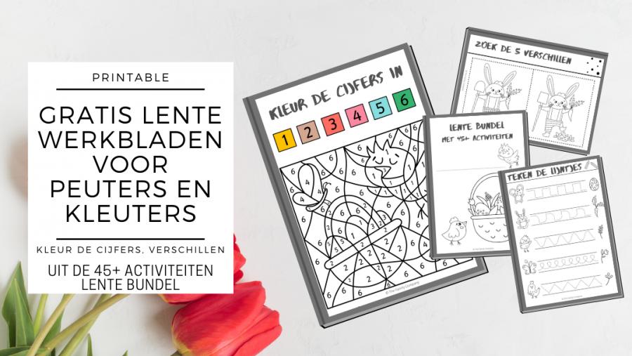3x gratis lente printable activiteiten voor peuters & kleuters